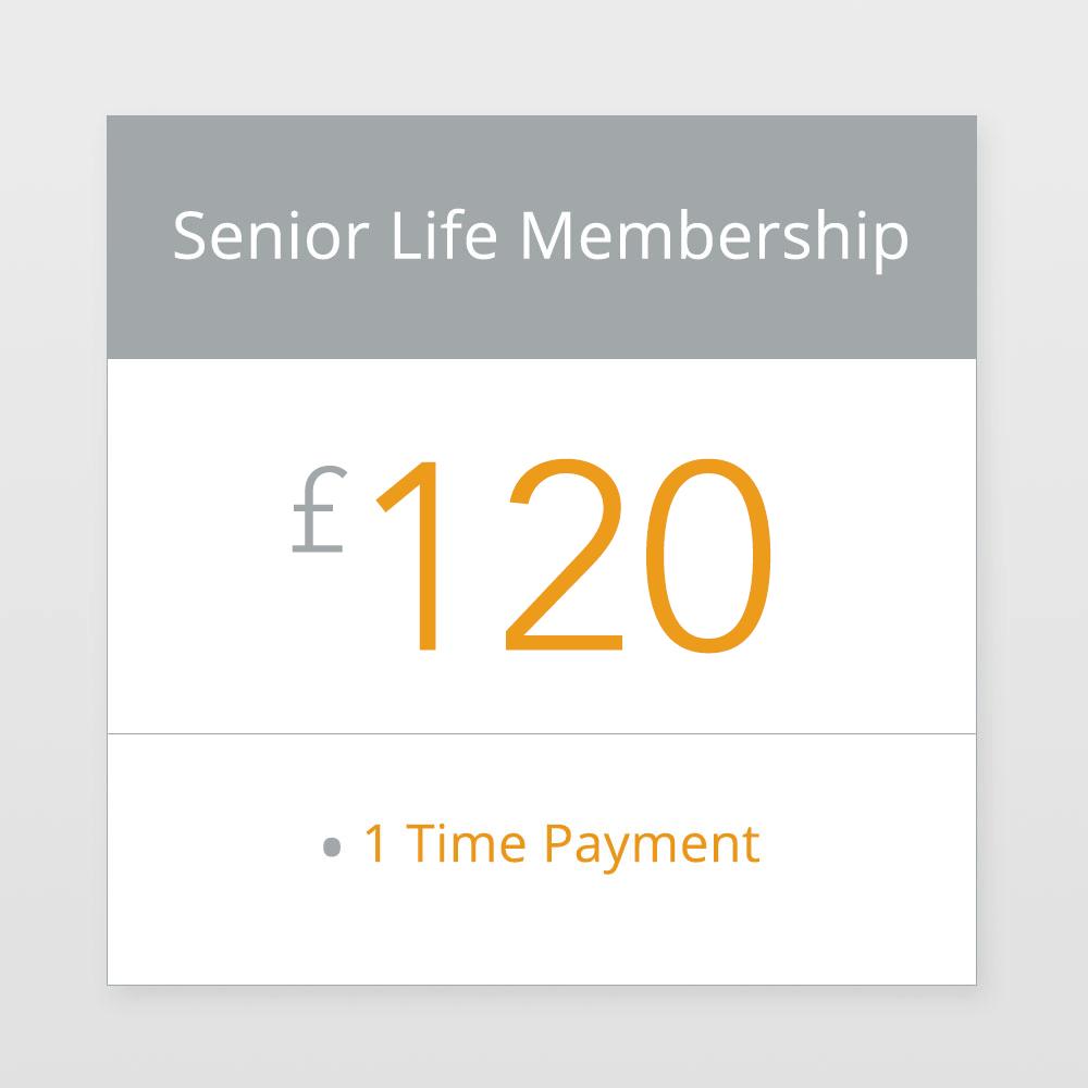 Senior Life Membership £120